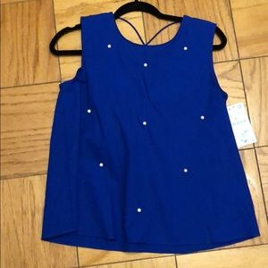 Zara Top with open back blue
